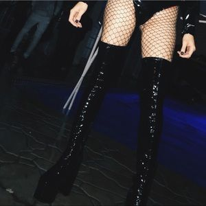 aad608fb5 Dolls kill Shoes - Belladonna thigh high boots. Worn once.